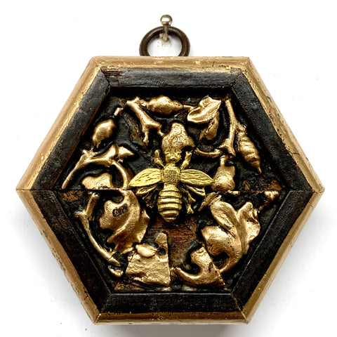 Wooden Frame with Napoleonic Bee (3
