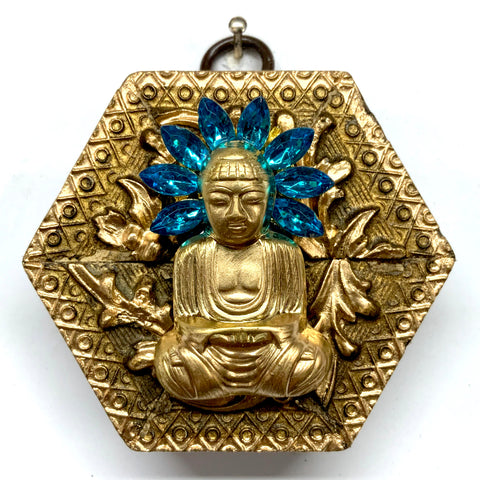 Gilt Frame with Buddha on Brooch (2.75