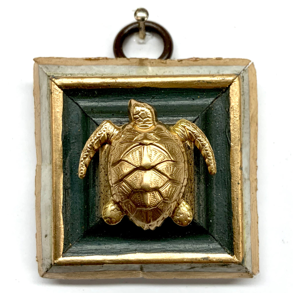 Mother of Pearl Frame with Turtle (2