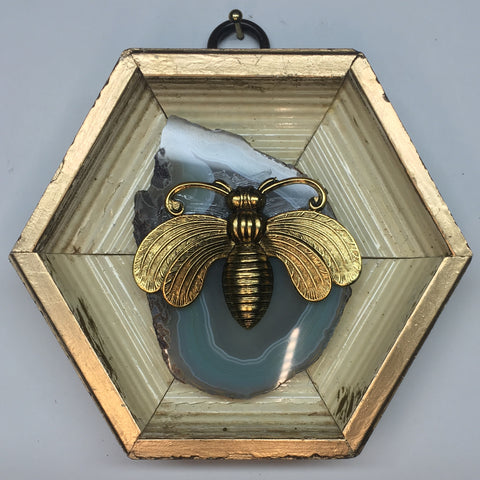 Gilt Frame with Deco Bee (4
