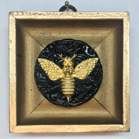 Gilt Frame with Victorian Bee on Jade Piece (3.5