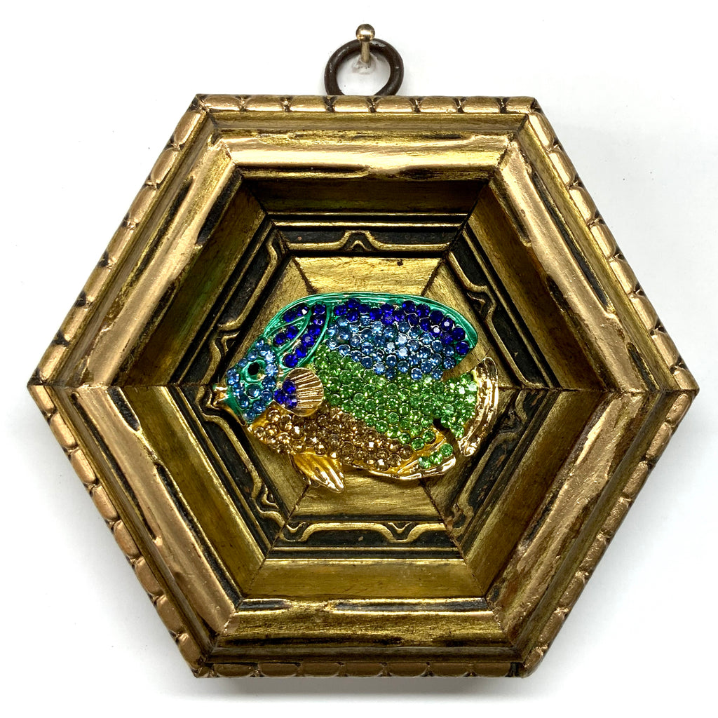 Gilt Frame with Fish Brooch (4.25
