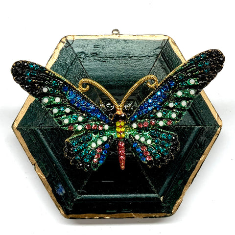 Painted Frame with Sparkle Butterfly Brooch (3.25