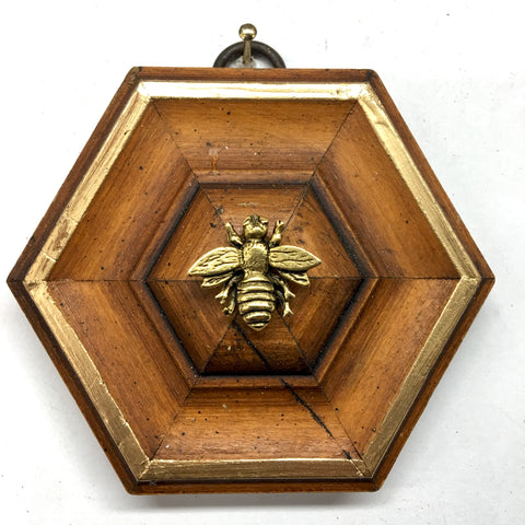 Wooden Frame with Napoleonic Bee (3.5