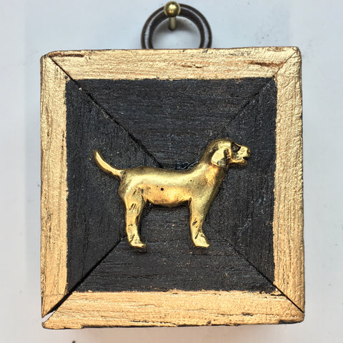 Bourbon Barrel Frame with Golden Retriever (2