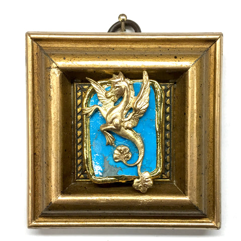 Gilt Frame with Hippocamp on Stone (3