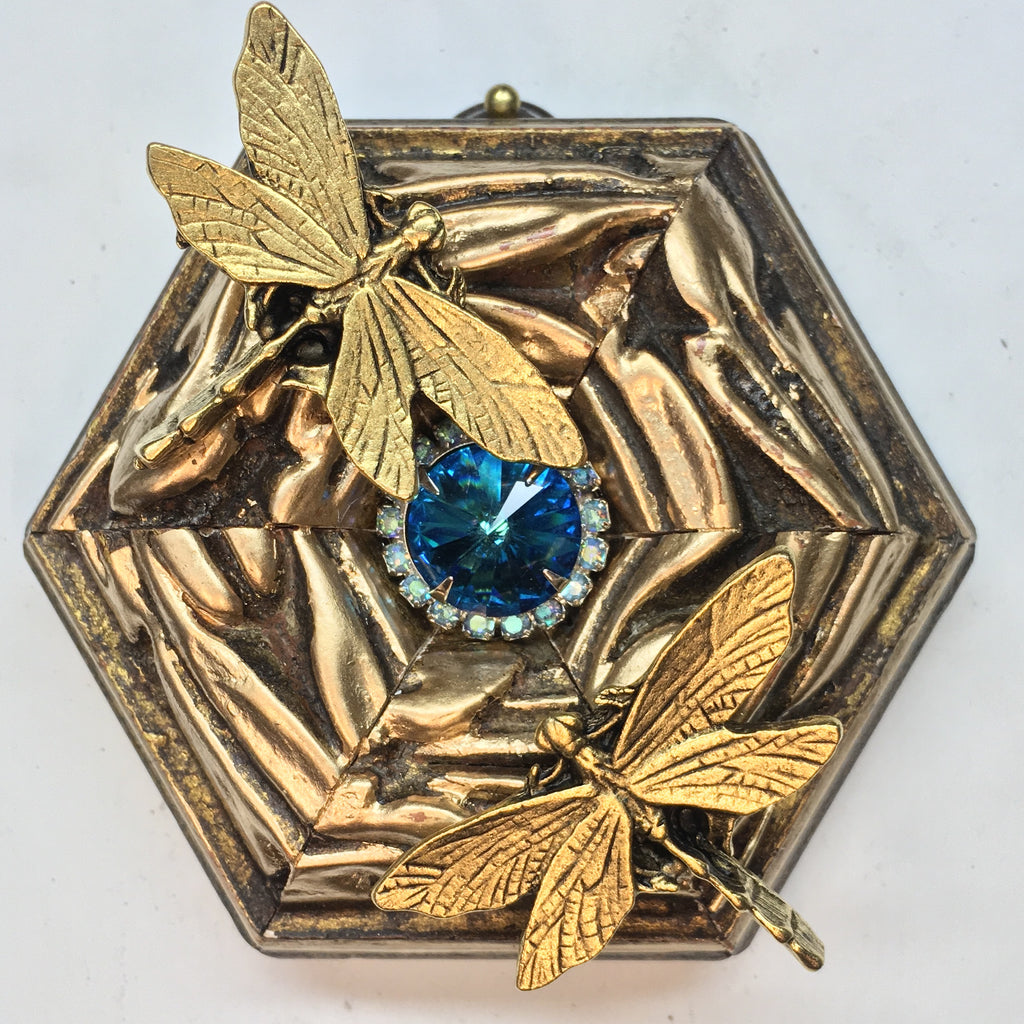 Gilt Frame with Dragonflies (3.5