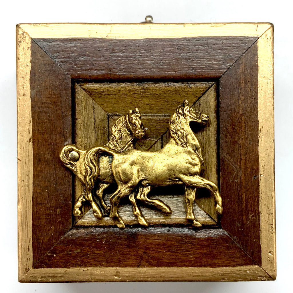 Wooden Frame with Horses (3.5