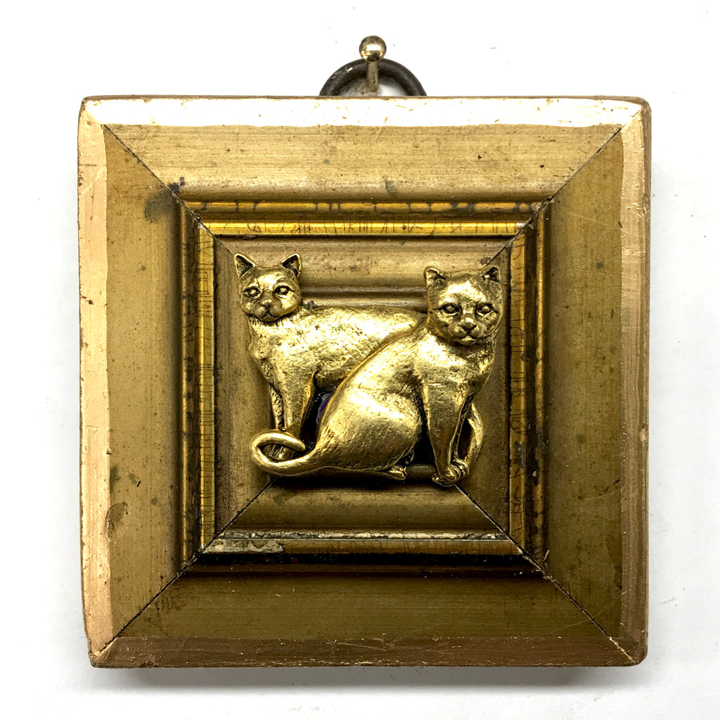 Gilt Frame with Cats (2.75