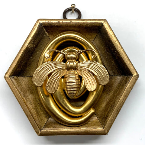 Gilt Frame with Deco Bee on Brooch (3.75
