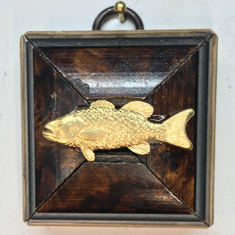 Burled Frame with Fish (2