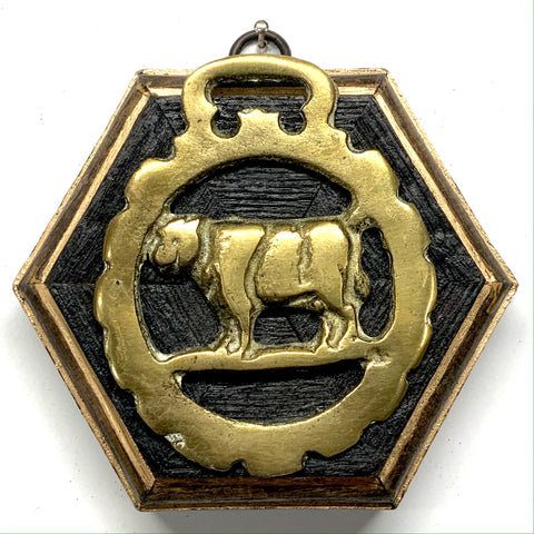 Bourbon Barrel Frame with Cow Horse Brass (4.25