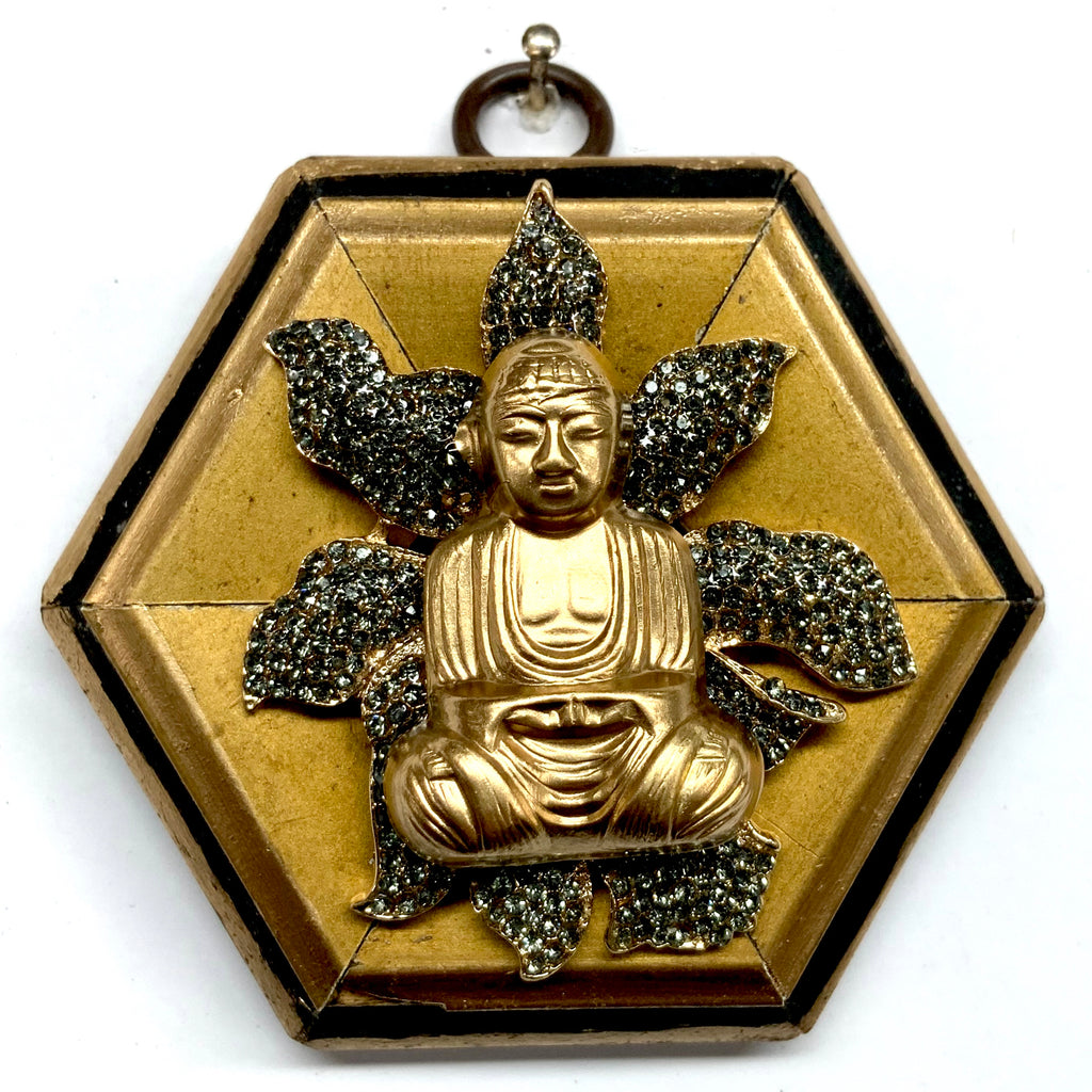 Lacquered Frame with Buddha on Brooch (3.5