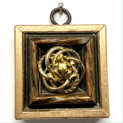 Gilt Frame with Frog on Brooch (2.25