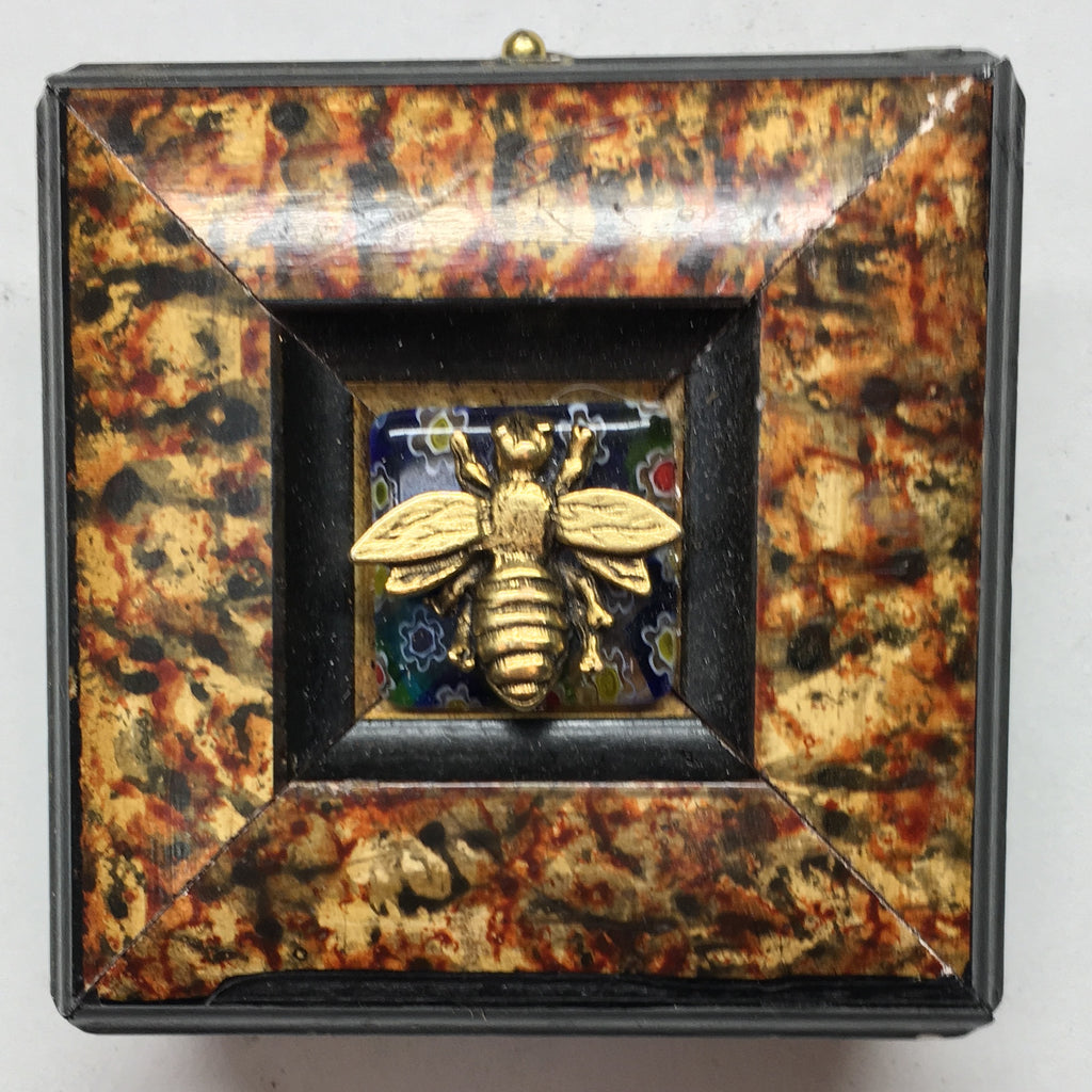 Marbled Frame with Napoleonic Bee (2.5