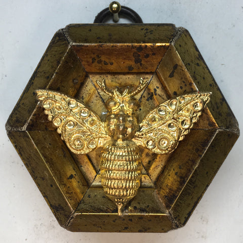 Gilt Frame with Victorian Bee (2.5
