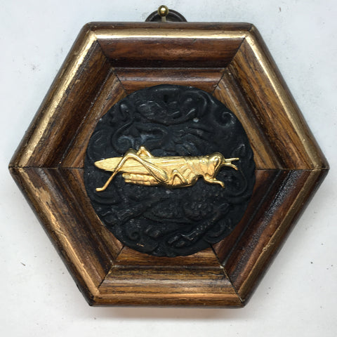 Wooden Frame with Cricket on Jade (3.75