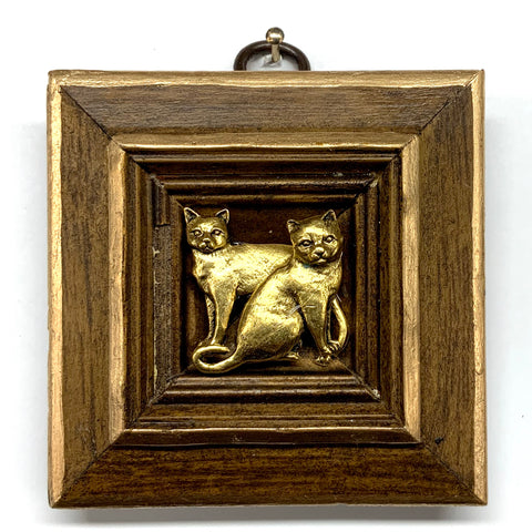 Wooden Frame with Cats (3