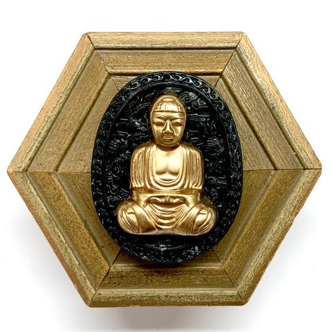 Painted Frame with Buddha on Jade (3.75