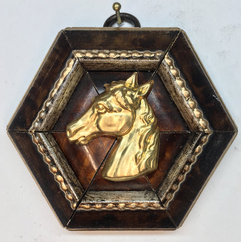 Burled Frame with Horse (3.25