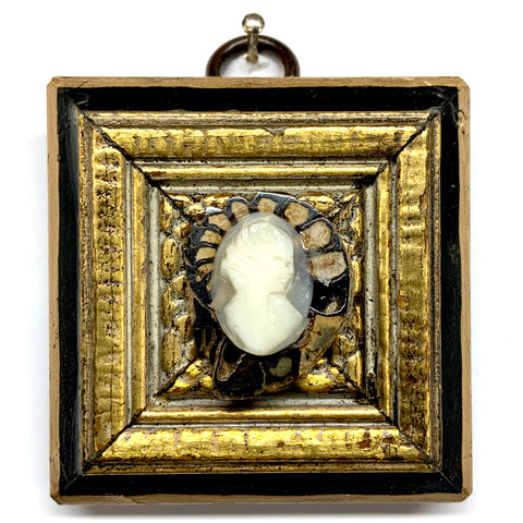Lacquered Frame with Cameo on Ammonite (2.5