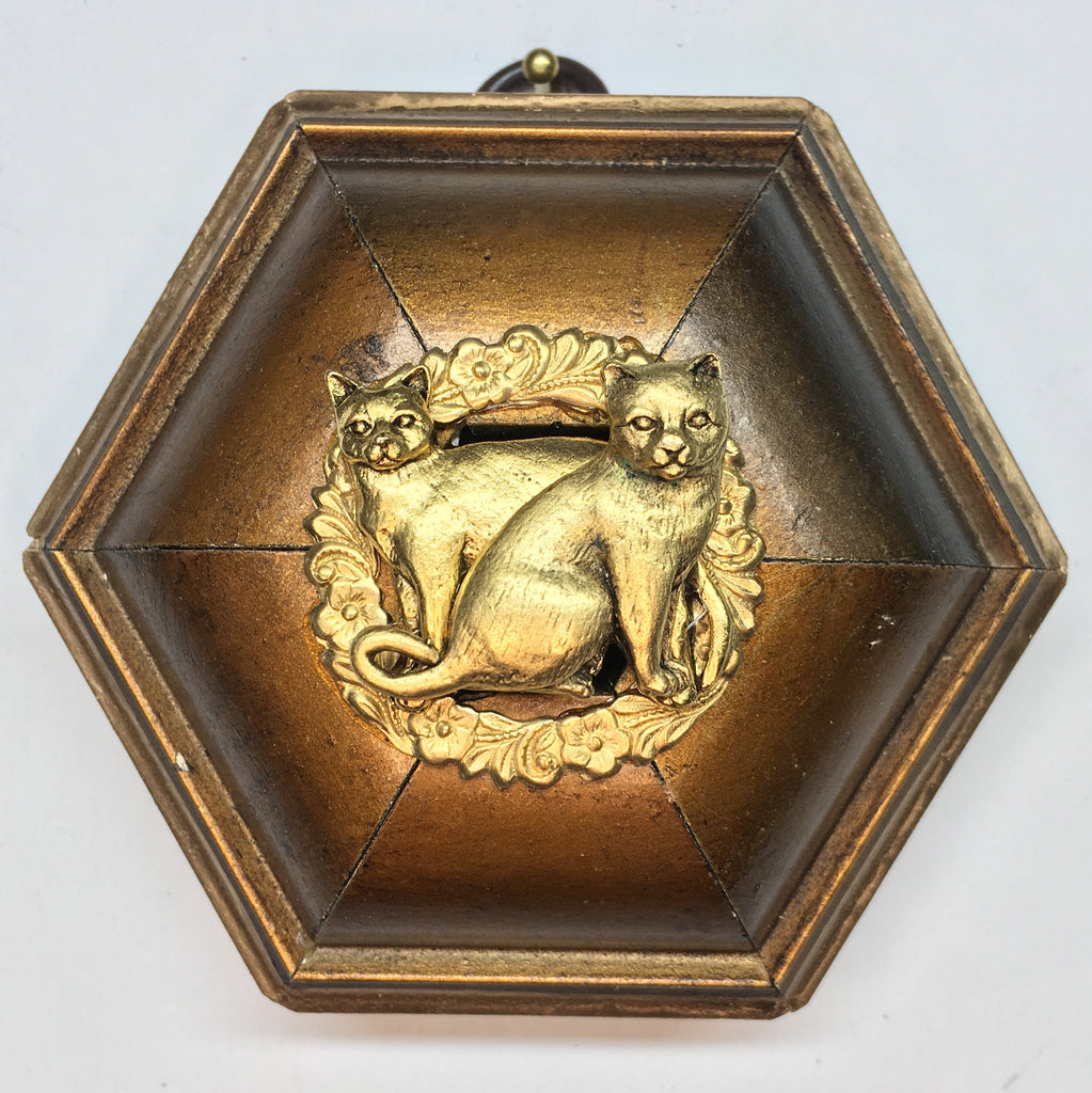 Gilt Frame with Cats (3.75