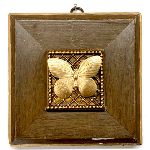 Wooden Frame with Butterfly (5.25