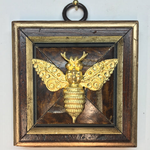 Wooden Frame with Victorian Bee (2.75