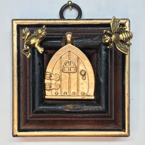 Wooden Frame with Napoleonic Bee and Frog around Cottage Door (2.75