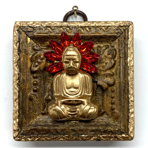 Gilt Frame with Buddha on Brooch (2.5