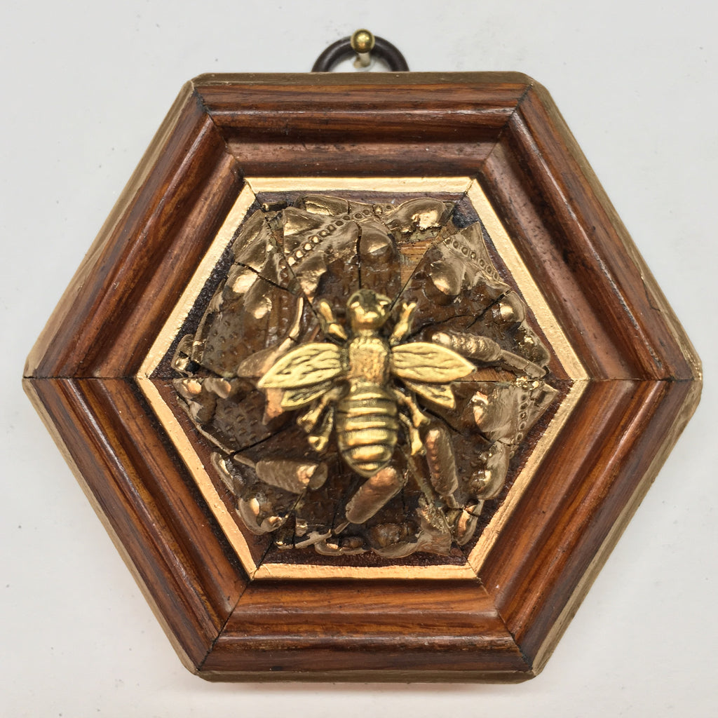 Wooden Frame with Napoleonic Bee (3.75