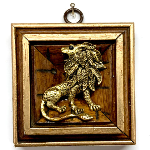 Wooden Frame with Lion (3.25