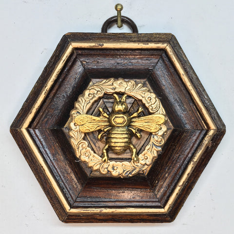 Wooden Frame with Italian Bee (3.25