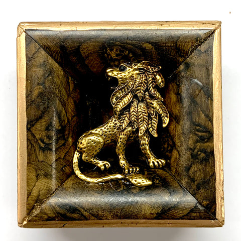 Burled Frame with Lion (3.25