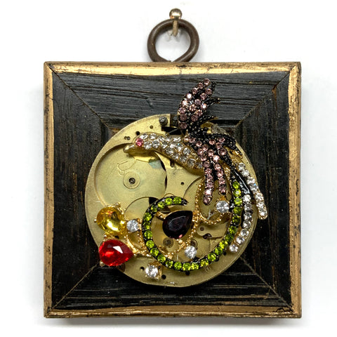 Painted Frame with Phoenix on Watch Movement (2.75