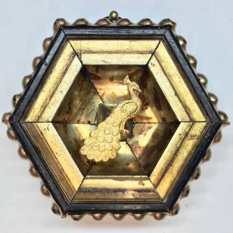 Gilt Frame with Peacock (3