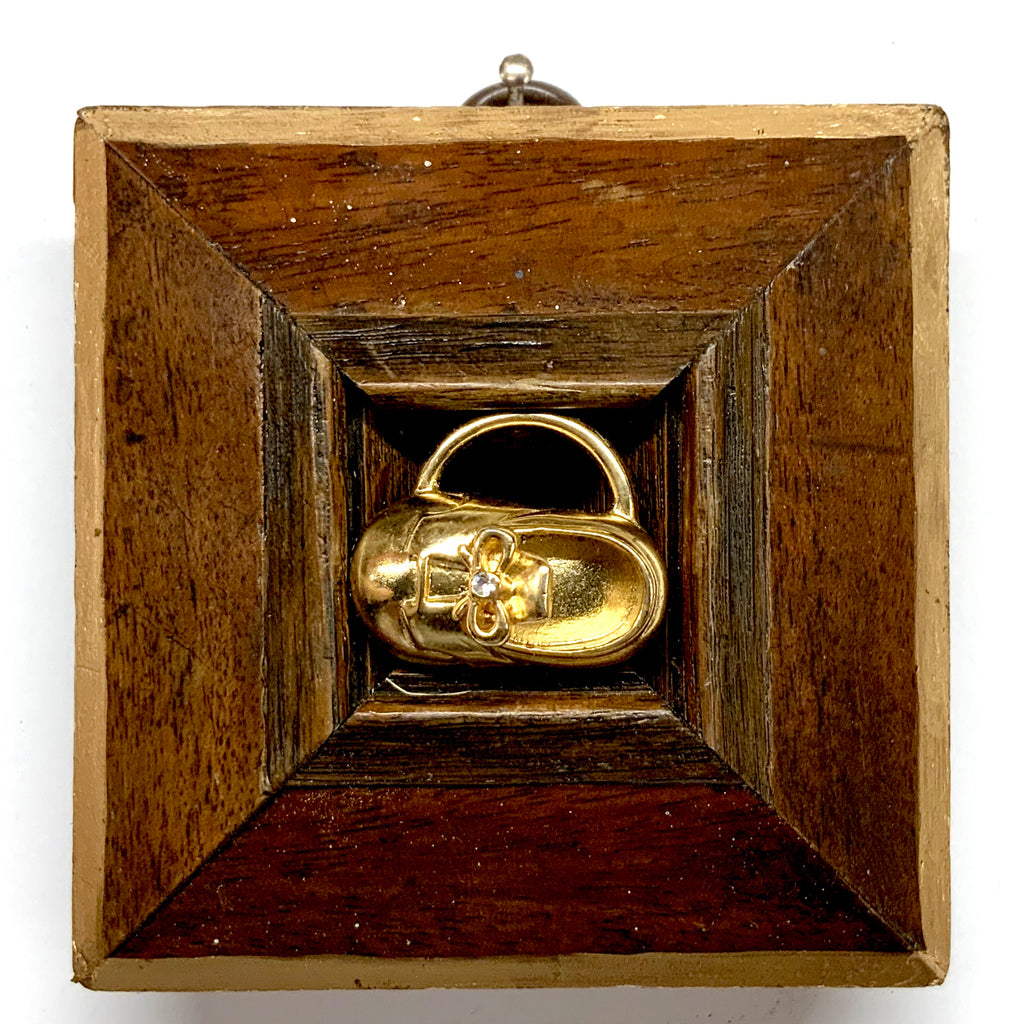 Wooden Frame with Shoe Brooch (3.25
