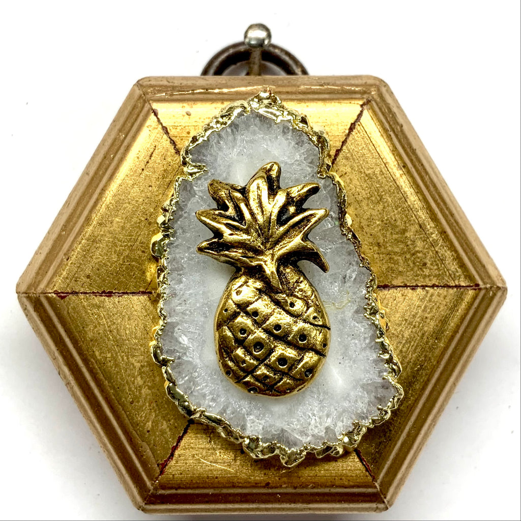 Gilt Frame with Pineapple on Quartz (2.25