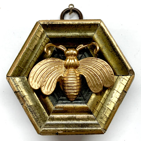 Gilt Frame with Deco Bee (2.75
