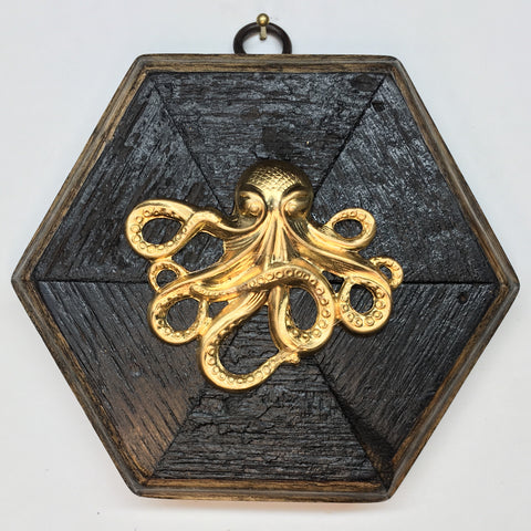 Bourbon Barrel Frame with Octopus (4.75