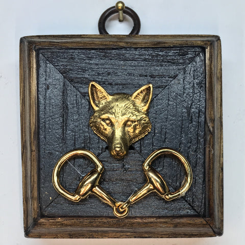 Bourbon Barrel Frame with Fox (3