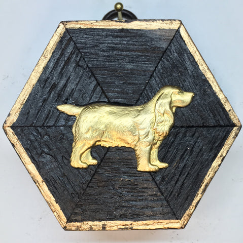 Bourbon Barrel Frame with Spaniel (3