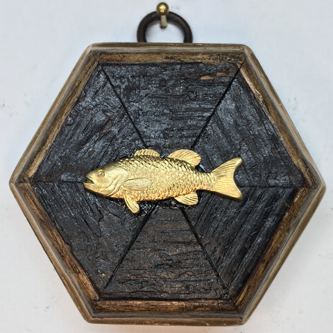 Small Bourbon Barrel Frame with Trout (3-3.5