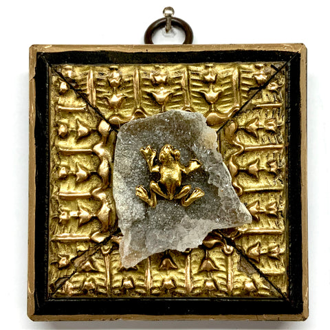 Lacquered Frame with Frog on Semi-Precious Stone (3