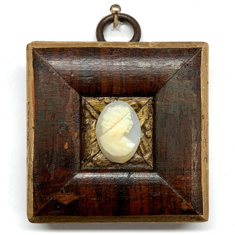 Burled Frame with Cameo (2
