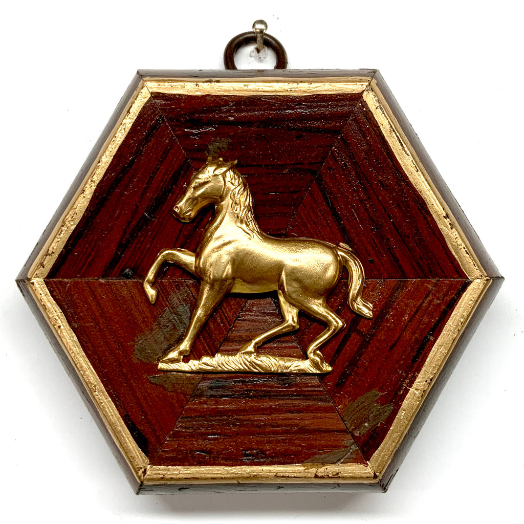 Wooden Frame with Horse (4