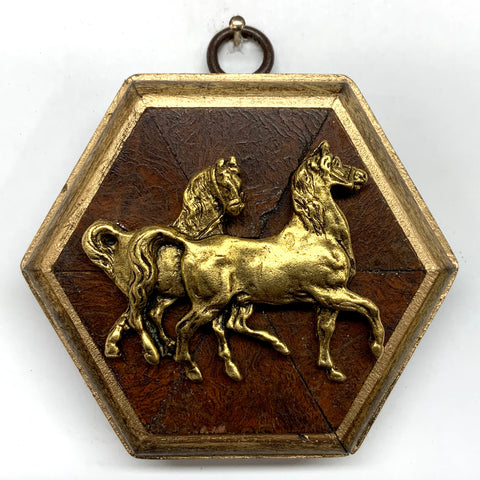 Burled Frame with Horses (3.5