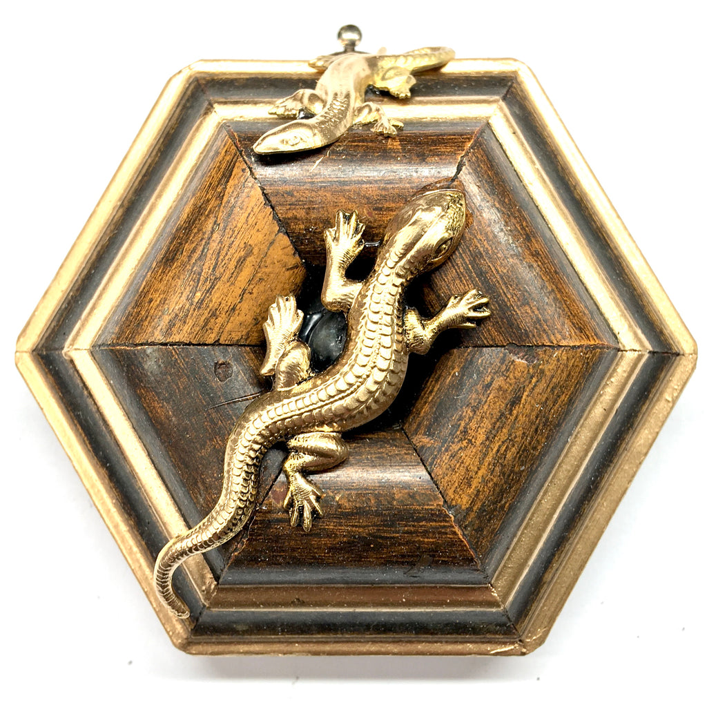 Wooden Frame with Lizards (3.25