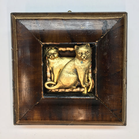 Burled Frame with Cats (3