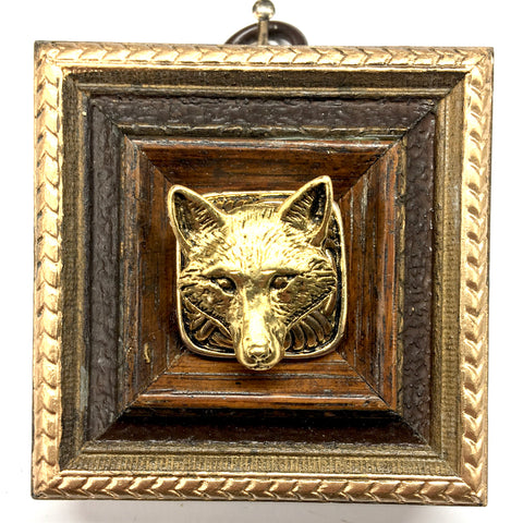 Wooden Frame with Fox on Brooch (2.5
